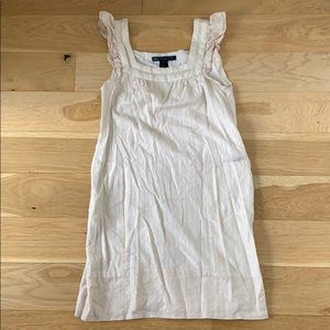Marc Jacobs Cream Gold Shift Dress